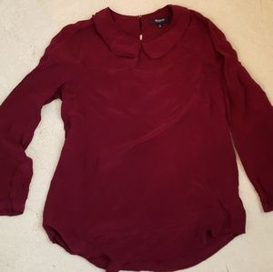 NWOT Madewell Peter Pan Collar Blouse